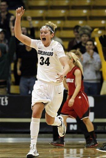 Colorado women stun No. 8 Louisville 70-66