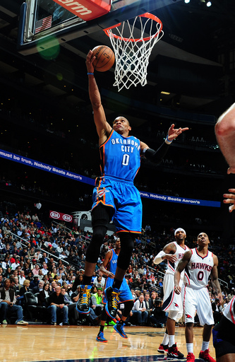 Durant scores 41 as streaking Thunder top Hawks