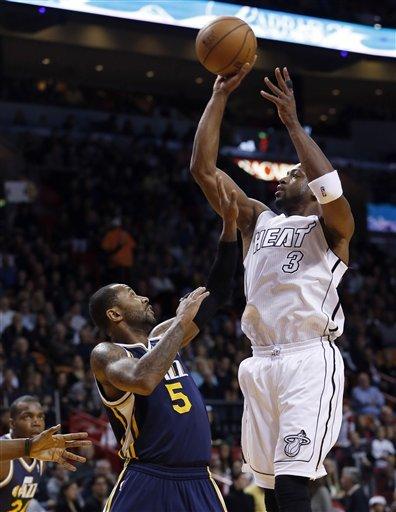 James scores 30, Heat win again, top Jazz 105-89