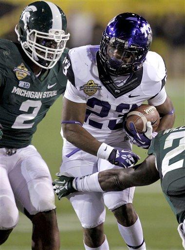 Michigan State edges TCU 17-16 in BWW Bowl