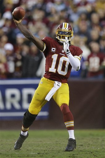 Robert Griffin III limped through much of Sunday's playoff game against Seattle. (AP)