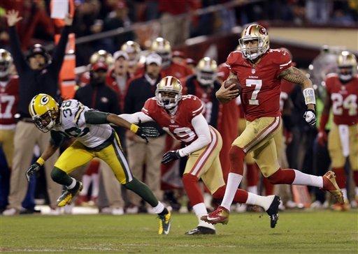 Kaepernick delivers, 49ers beat Packers 45-31