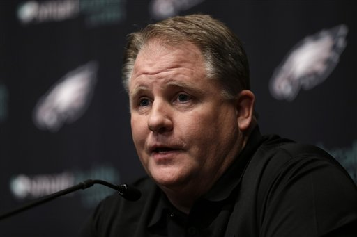 Chip Kelly replaces Andy Reid as the Eagles' coach. (AP)