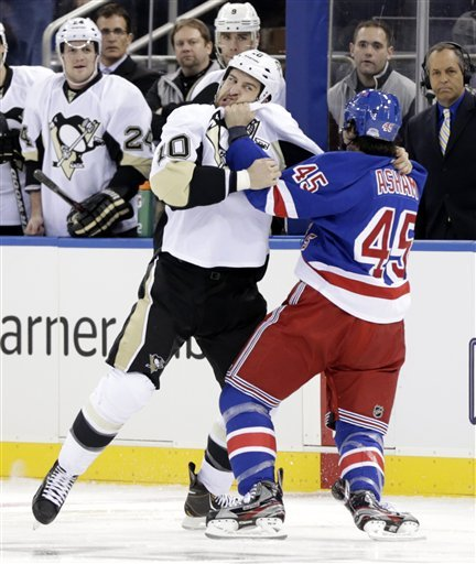 The Penguins capped a successful opening weekend with a feisty victory over the Rangers. (AP)