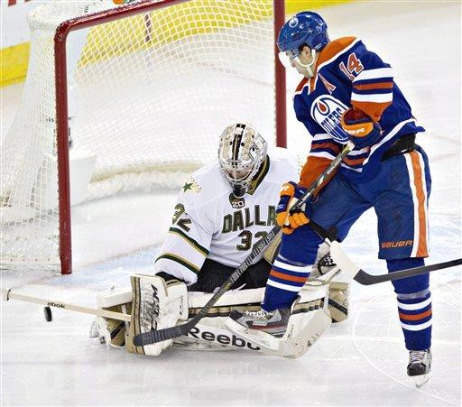 Lehtonen leads Stars to 4-1 win at Oilers