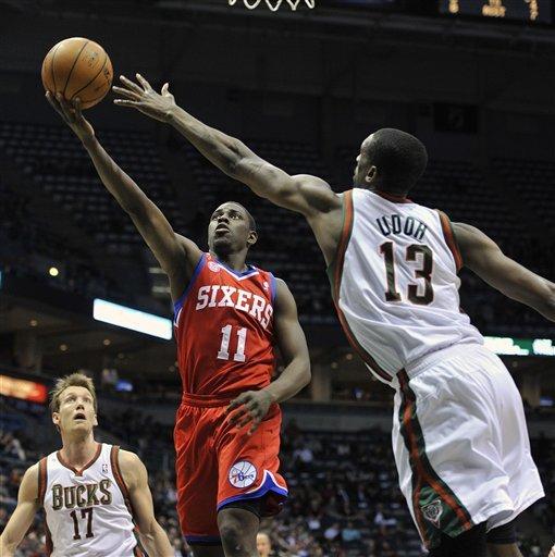 Ellis scores 28 to lead Bucks over 76ers 94-92