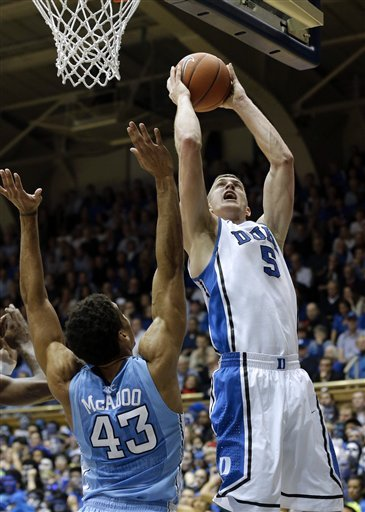 Plumlee, No. 2 Duke beat UNC 73-68