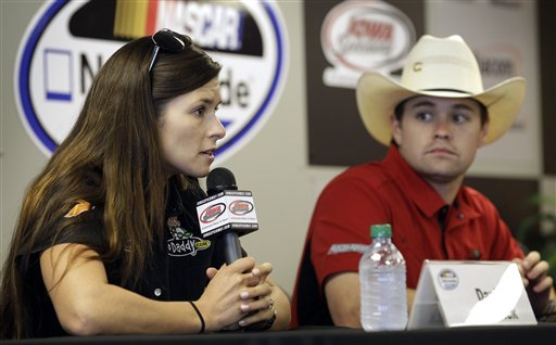 The relationship between Danica Patrick and Ricky Stenhouse Jr. has dominated the talk at Daytona. (AP)