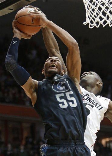 No. 15 Georgetown rallies for 62-55 win over Cincy