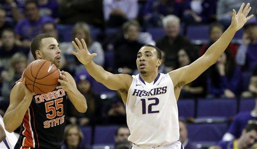 Huskies pull away late to defeat Beavers 72-62