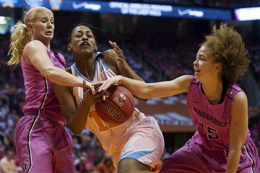 No. 12 Tennessee women outlast Vanderbilt 83-64