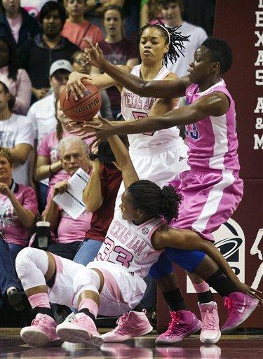 No. 8 Kentucky women beat No. 10 Texas A&M 70-66