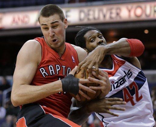 Raptors deal with broken clock, top Wizards 96-88