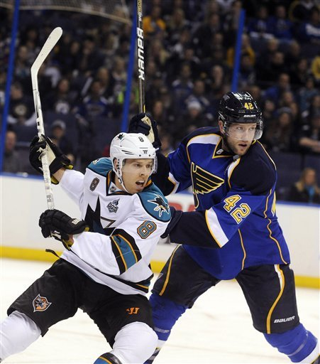 Sharks slip past Blues for 2-1 victory