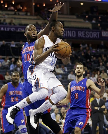 Monroe, Knight lead Pistons over Bobcats 105-99