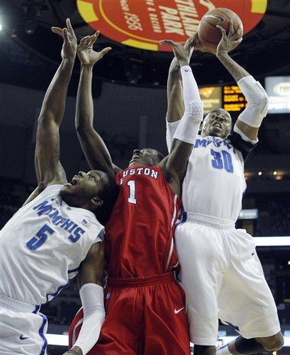 Thomas scores 22 as No. 21 Memphis beats Houston