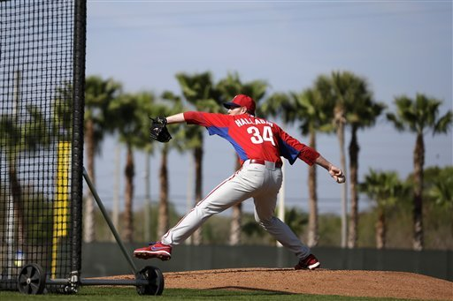 Roy Halladay is working to put last year's rough season behind him. (AP Photo)