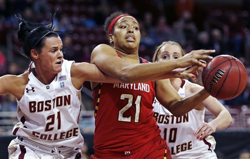No. 8 Maryland women beat Boston College 86-61