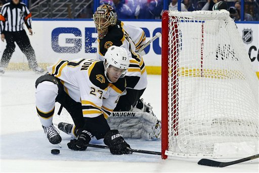 Horton scores 2 goals as Bruins top Lightning 4-2