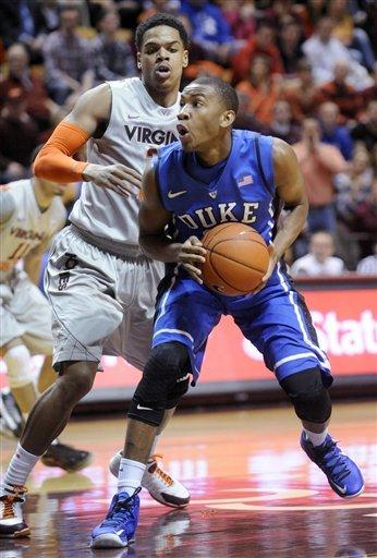 Curry's 22 lead No. 6 Duke past Va. Tech, 88-56