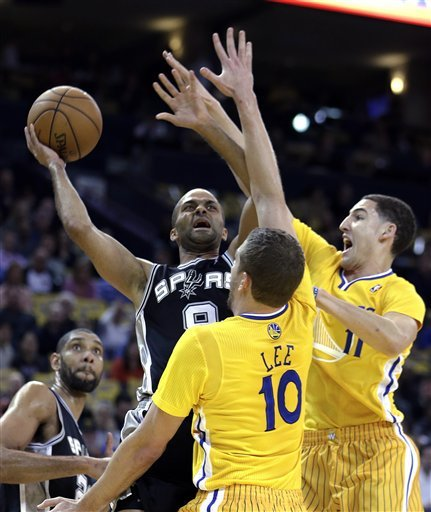 Warriors rally past Spurs 107-101 in OT
