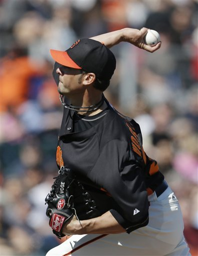 Vogelsong, Sandoval lead Giants past Angels 4-1