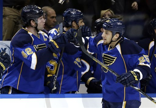 Blues end home slump with 2-1 win over Columbus