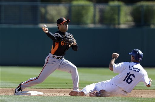 Giants' Lincecum struggles in 1st start of spring