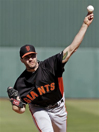 Vogelsong sharp, Giants and Angels tie at 8