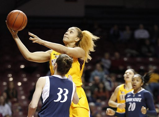 Minnesota women topple No. 7 Penn State 89-81