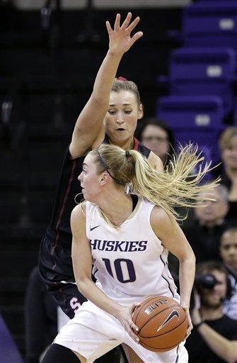No. 4 Stanford women surge past Washington 71-36