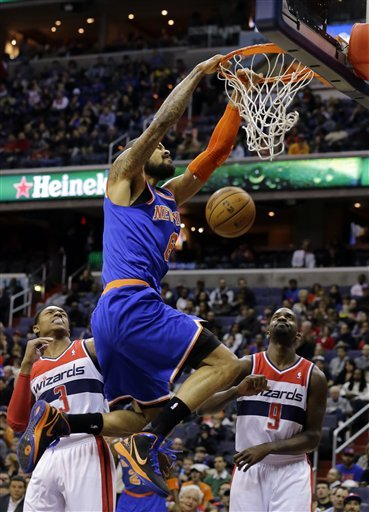 Anthony's 30 points help Knicks beat Wizards 96-88