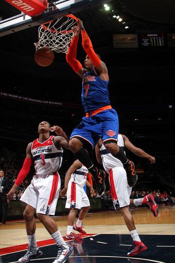 Anthony's 30 points help Knicks beat Wizards 96-88