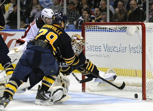 Pominville leads Sabres in 4-3 SO win over Devils