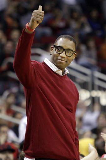 Tracy McGrady played in China this season. (AP)