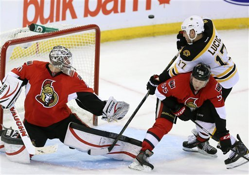 Bruins defeat Senators 3-2 in a shootout