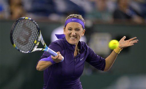 Federer, Azarenka advance at Indian Wells