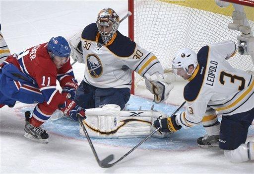 Vanek scores 2 in Sabres' win over Canadiens