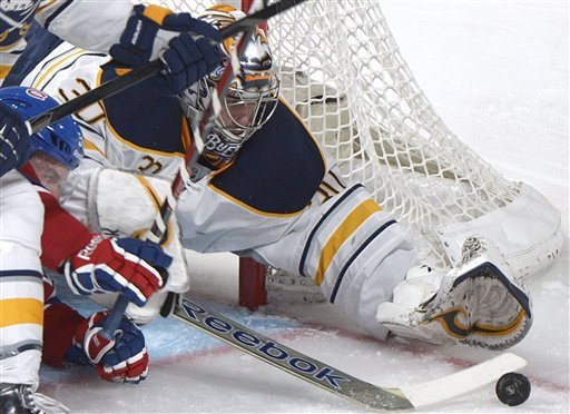 Vanek scores 2 in Sabres' win over Canadiens