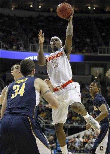 Syracuse tops California 66-60 to advance at NCAAs