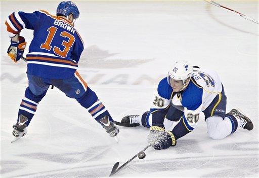 Halak makes 19 saves, Blues beat Oilers 3-0