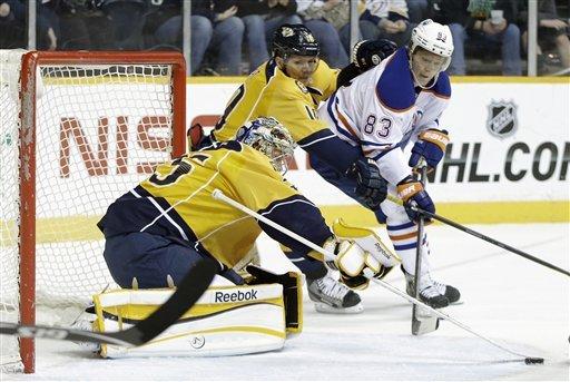 Predators edge Oilers 3-2 behind Kostitsyn