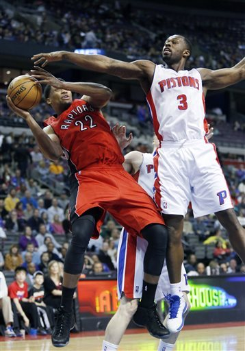 Raptors beat Pistons 99-82 to end 5-game skid