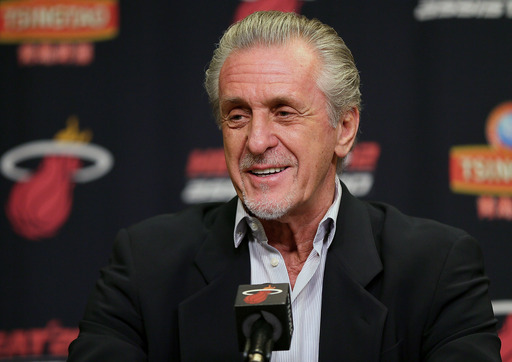 "Pat Riley called Celtics general manager Danny Ainge a ""whiner."" (AP)"