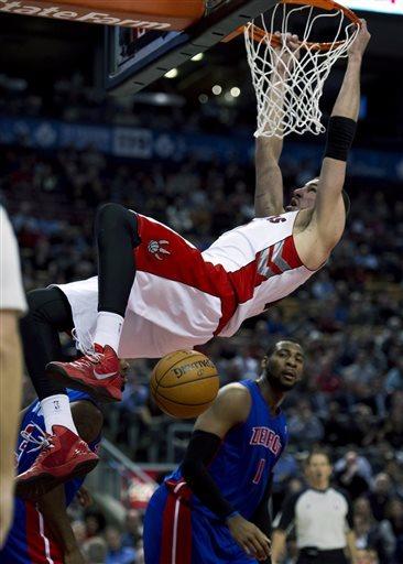 Monroe scores 24, Pistons beat Raptors 108-98
