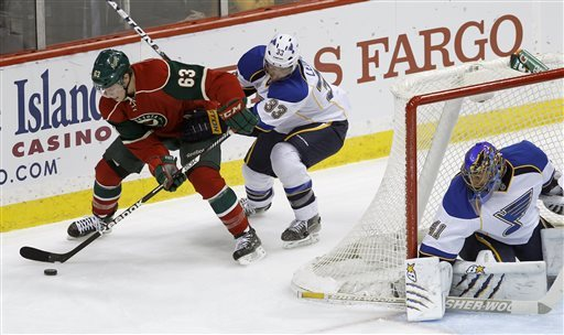 Blues beat Wild 4-1 to end 3-game losing streak