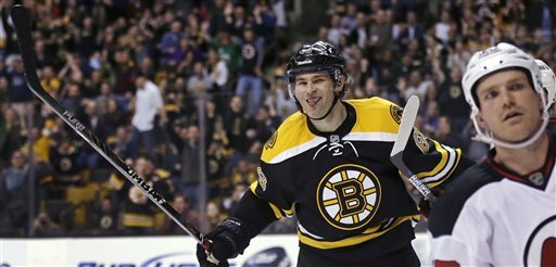 Jagr scores in Bruins debut, Boston beats NJ 1-0