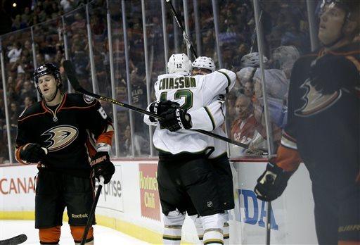 Chiasson's 1st goal lifts Stars over Ducks