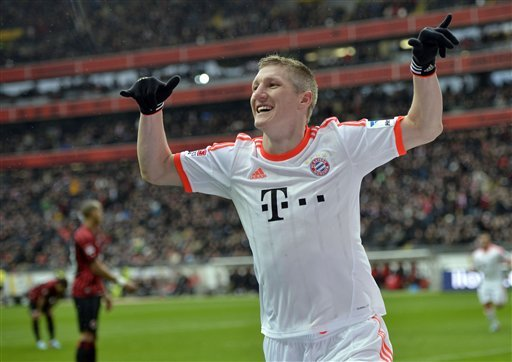 Bastian Schweinsteiger and Bayern Munich are the Champions League title favorites. (AP)