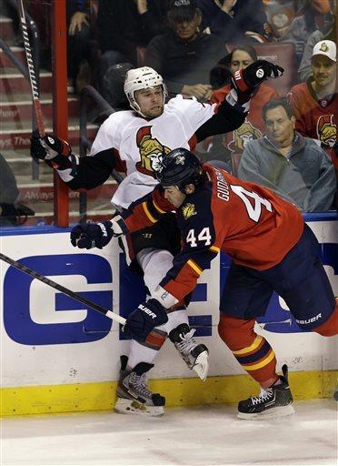 Kulikov lifts Panthers over Senators, 2-1